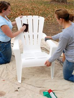 Whether it's a piece of lawn furniture or PVC trim, you're bound to paint plastic at some point. These tips and tricks will ensure the job gets done right.