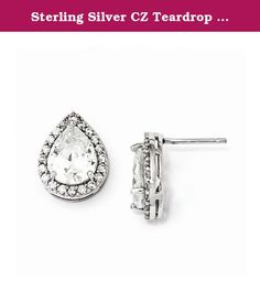 Sterling Silver CZ Teardrop Post Earrings. Sterling Silver CZ Teardrop Post. Earrings. Model Number: QCM849 . Feature Highlights: Quality: Sterling-silver. Primary Metal composition: Silver. Spectacularly Designed. Flawless Finish. . Stone Type: Cubic Zirconia. Stone Creation: Synthetic. Got questions about this item? If you wish to know any additional info or have any additional questions regarding this item, please don't hesitate to send us an email. We will answer any questions in a...