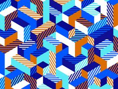 Isometric Pattern by Greg Anthony Thomas