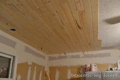 DIY: Wood ceiling