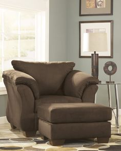 Darcyl DuraBlend Contemporary Cafe Color Microfiber Chair And Ottoman. With  The Exciting Contemporary Style Of