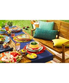 Certified International Frida 4-Pc. Melamine Mixed Dip Bowl Set - Floral Gingham