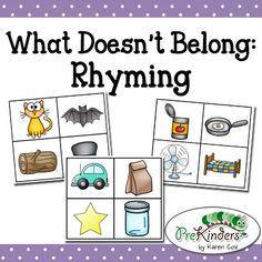Rhyming Activities, Kindergarten Literacy, Early Literacy, Preschool Classroom, Literacy Centers, Classroom Ideas, Literacy Games, Preschool Alphabet, Classroom Rules