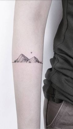 The lines of the mountain are cool