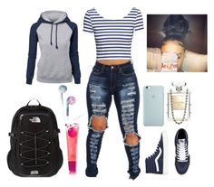 """""""School wensday"""" by curlss-wavyy-sexy ❤ liked on Polyvore featuring H&M, Chanel and The North Face"""