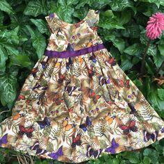 Butterfly dress girls dress summer dress birthday by TwigandPosy