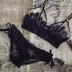 Because every girl deserves pretty underwear. #honeysucklebra #honeysucklepanty #forloveandlemons #downtoyourSKIVVIES