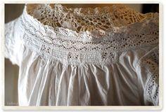 イギリス アンティークワンピース - 【Belle Lurette】ヨーロッパ フランス アンティークレース リネン服の通販