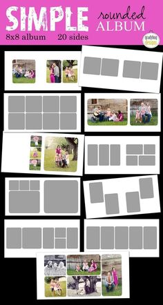 simple round 8×8 album » Gradybug Designs
