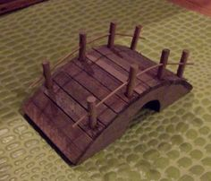 Miniature Wooden Garden Or Fairy Foot Bridge Small Terrarium Diorama Supplies