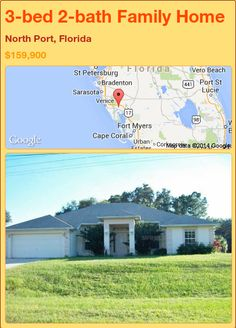 3-bed 2-bath Family Home in North Port, Florida ►$159,900 #PropertyForSale #RealEstate #Florida http://florida-magic.com/properties/76506-family-home-for-sale-in-north-port-florida-with-3-bedroom-2-bathroom