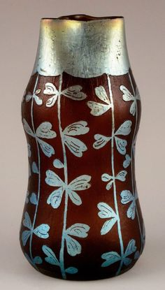 Rare LOETZ DEK 292 Etched Cameo Iridescent Art Glass Vase ca.1902    Tiffany Er  In Stock • $5600