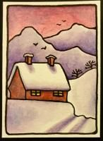 """Winter Wonderland ATCs"" by Gwennielo."