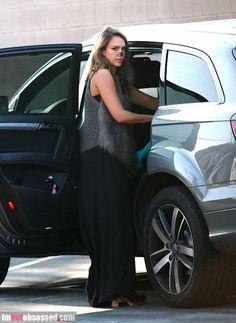 Black Kiersten Maxi dress on Jessica Alba