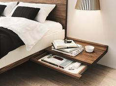 SOLID WOOD DOUBLE BED RILETTO RILETTO COLLECTION BY TEAM 7 NATÜRLICH WOHNEN…