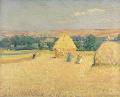 Helen McNicoll, Stubble Fields, c. 1912. Oil on canvas, 73.7 x 89.7 cm. National Gallery of Canada, Ottawa. #ArtCanInstitute #CanadianArt