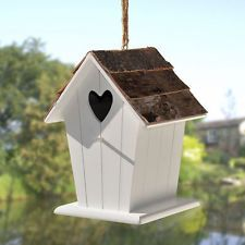 Birch Bark Bird House, Available at www.theshabbychicgeek.co.uk #shabbychic #birdhouse