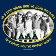 Check out this adorable Bid Day shirt from Delta Delta Delta! It's not what you've just become, it's what you've always been!