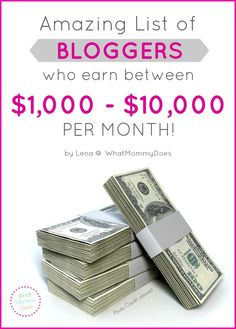 Lots of people write their blogs in their free time and/or work less than full time hours, but make good incomes from it. These 25 bloggers share their income reports and exlain how they make money online. Use it to validate your own ideas on how to earn money from home. If you want to know how to make $1,000+ from a blog, you HAVE to see this list!