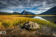 I know... kitchy title. I couldn't resist with the particular composition of this autumn shot taken last week at Vermillion Lakes in Banff.  ;)