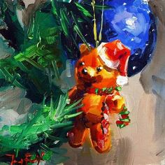 "Daily Paintworks - ""Frohe Weihnachten!"" - Original Fine Art for Sale - © Jurij Frey"