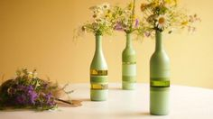 Bottle Vase by Scrapeture on Etsy