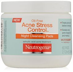 Oil-Free Acne Stress Control Night Cleansing Pads treat acne even before it emerges. Sweep away pore-clogging oil and makeup with these easy-to-use...