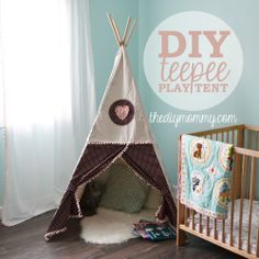 Ah! This is the tutorial I want! Toddler-sized and all! :) --Sew a DIY Teepee Play Tent