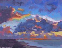 DPW Fine Art Friendly Auctions - Florida Sunset by Marla Laubisch