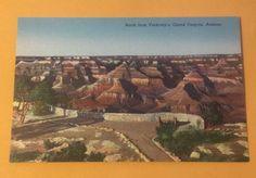 North from Verkamp's GRAND CANYON NATL PARK AZ vintage unused linen postcard
