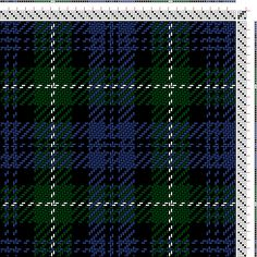 Hand Weaving Draft: Lamont (B6, BK2, B2, BK2, B2, BK8, G8, W2, G8, BK8, B8, BK2, B2), , 4S, 4T - Handweaving.net Hand Weaving and Draft Arch...