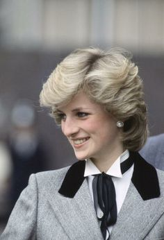 March 7, 1984: Princess Diana on a walkabout during her visit to the Lisson Grove Health Centre, London.
