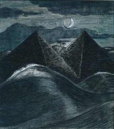 Paul Nash, The Pyramids in the Sea, 1912