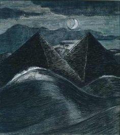 Paul Nash, The Pyramids in the Sea, 1912