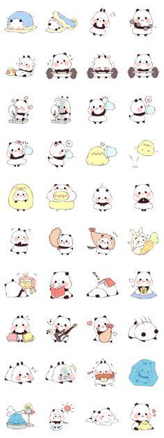 Yururin Panda ver.4 stickers!