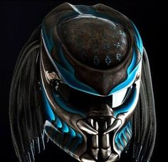 THE ALIEN PREDATOR HELMET KING STYLE DOT APPROVED #CELLOS #Predator