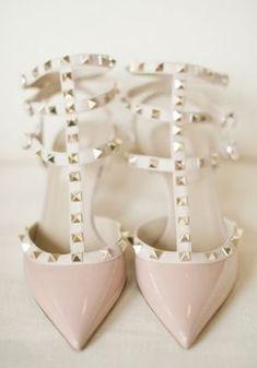 Pale Pink Valentino Rockstud Sandals