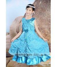Beading pleated flower girl dress H025