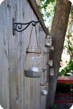 gutter gardens amp mason jar lanterns, diy home crafts, gardening, outdoor living, repurposing upcycling, Mason Jar Lanterns