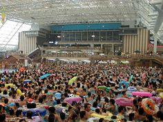Tokyo summerland drukste zwembad ter wereld