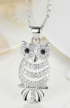 Do you love this 18K White Gold Plated owl necklace? You won't find this in stores! Limited quantity available. Get yours here >> http://theowlobservatory.com/product/18k-white-gold-plated-owl-necklace/