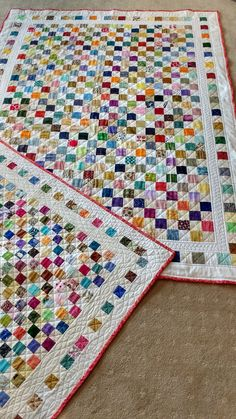 Purple Patch: Postage Stamp quilt - Love that border!