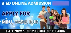 B.ed Admission 2020 Admission for B.ed Course for B.ed From MDU, B.ed from CRSU and Kurukshetra B.ed is going on. Apply now. #Bed_admission_2020 #Bed_from_MDU, #Bed_from_CRSU, #Kurukshetra_Bed_Admission