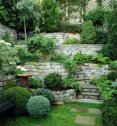 Serenity in stone...(via Everdell Garden Design)