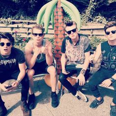 the vamps wearing sunglasses = perfect