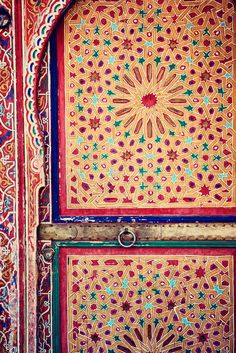 ✰ Beautiful colorful handicraft door India ✰