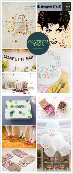 Love the Confetti Bar idea or the little boxes on the tables for bride sendoff