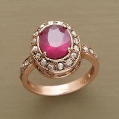 rimmed ruby ring $3,900.00