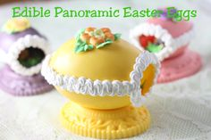 Edible Panoramic Easter Eggs - made with candy melts instead of hard sugar