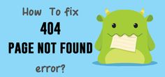 WordPress throw 404 error when requested pages or posts are not found. In most of the case, you can quick fix this error by updating permalink in the WordPress dashboard. Learn Wordpress, Not Found, Business Website, Learning, Free, Posts, Messages, Studying, Teaching